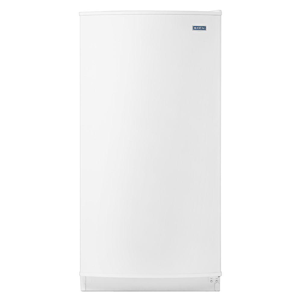 hight resolution of frost free upright freezer in white