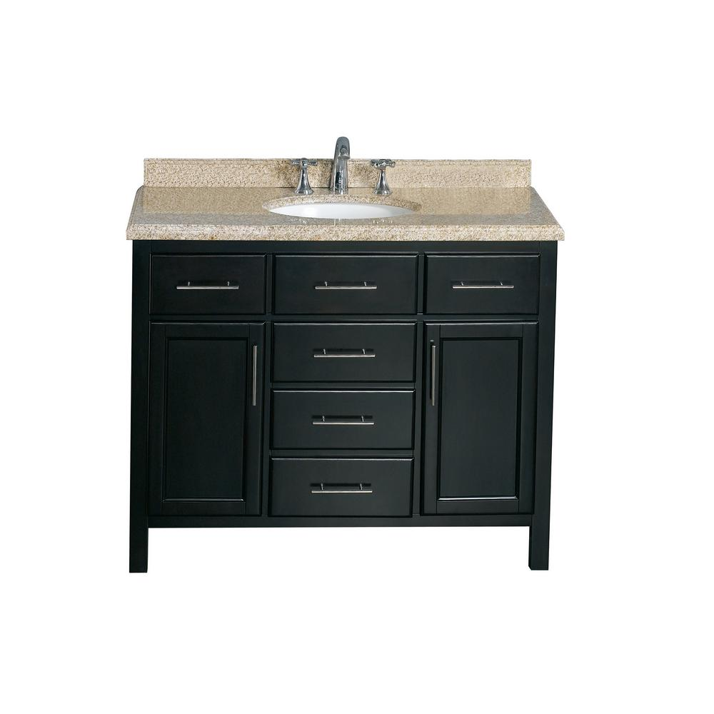 OVE Decors Gavin 42 in Vanity in Tobacco with Granite