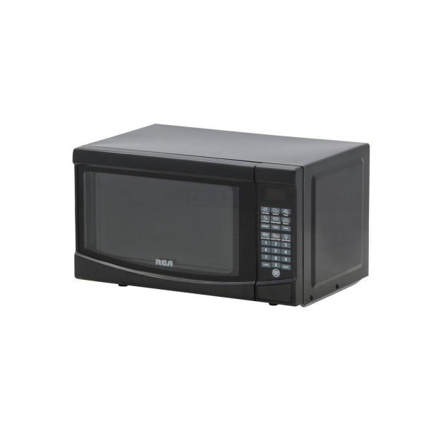 Rca 0.7 Cu. Ft. Countertop Microwave In Black-rmw733-black - Home Depot