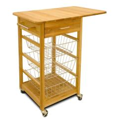 Metal Kitchen Carts Refinishing Ideas Islands Utility Tables The Home Depot Natural Cart With Towel Bar