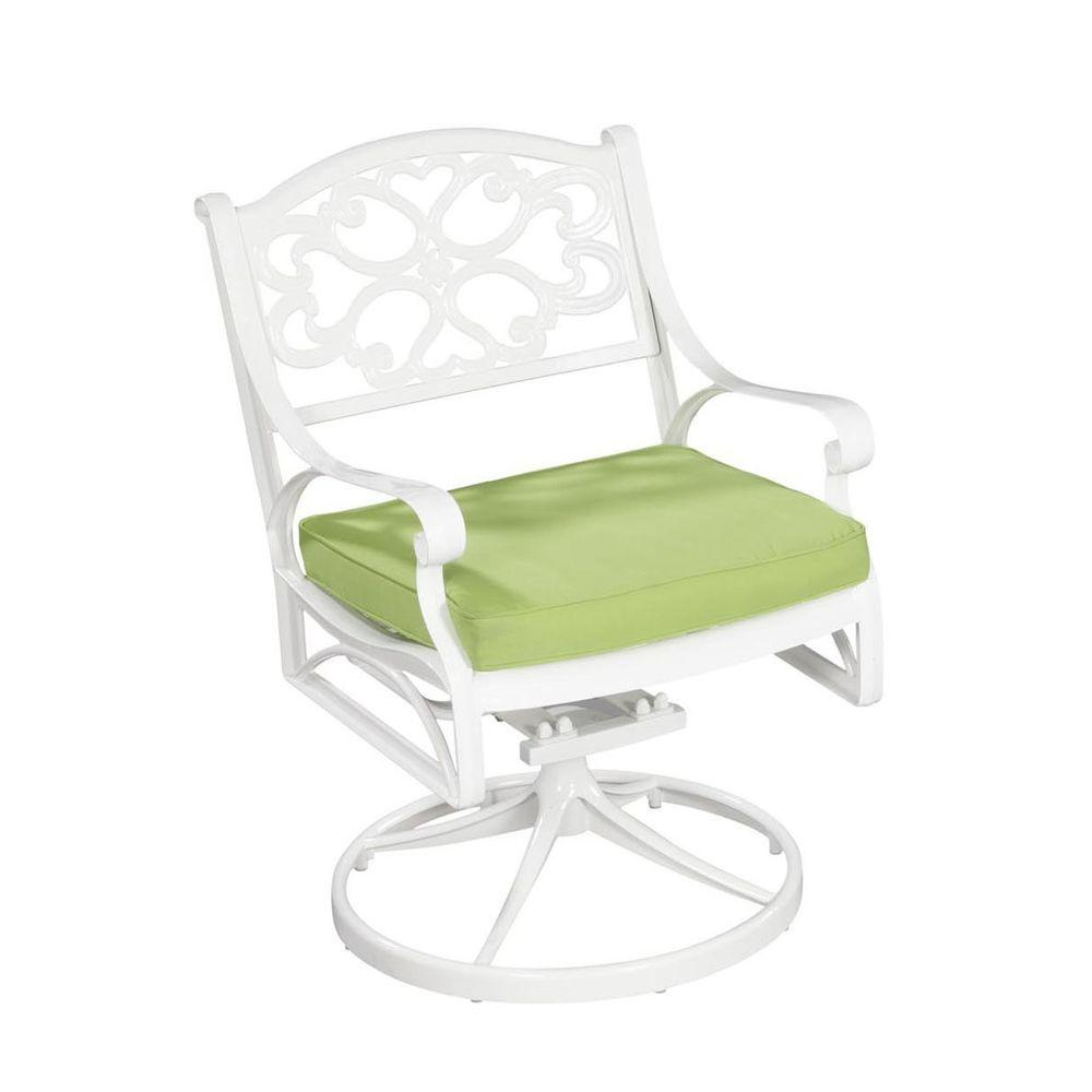swivel chair cushions office drawing home styles biscayne white patio with cushion 5552 53c
