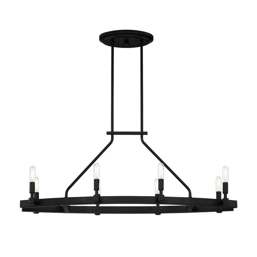 medium resolution of designers fountain fiora 8 light black linear chandelier