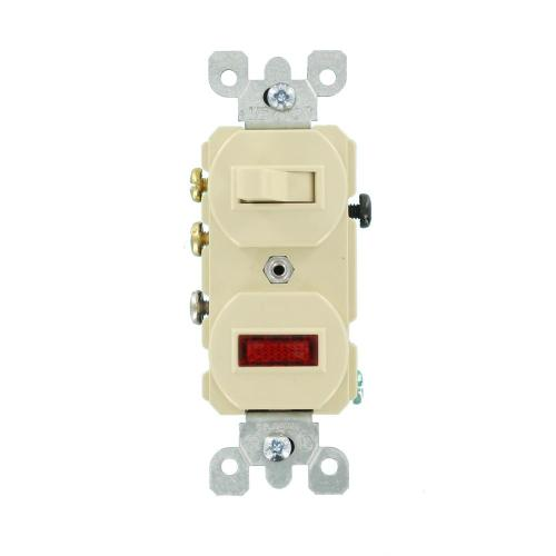 small resolution of leviton 15 amp commercial grade combination 3 way toggle switch pilot light ivory