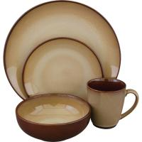 Sango Nova Dinnerware Set in Brown (16-Piece)-4933-16W ...