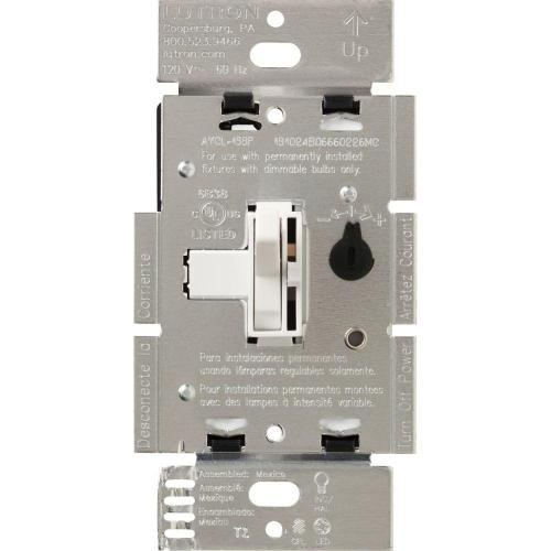 small resolution of lutron toggler 250w c l dimmer switch for dimmable led halogen and incandescent bulbs single pole or 3 way brown aycl 253p br the home depot