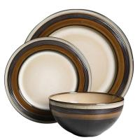 Brown Dinnerware Set & Regent Classic Single Square ...