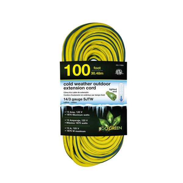 Husky 100 Ft. 16 3 Sjtw Extension Cord Red And Black