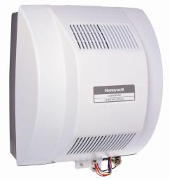 honeywell powered flow through whole house humidifier [ 1000 x 1000 Pixel ]