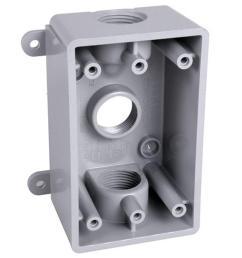 bell 1 gang weatherproof box three 1 2 in or 3 4 [ 1000 x 1000 Pixel ]