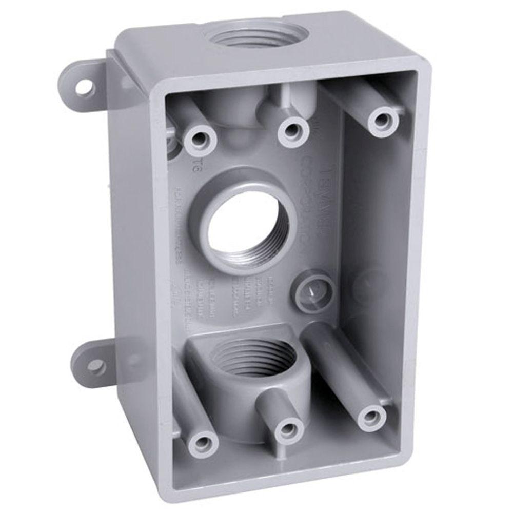 medium resolution of bell 1 gang weatherproof box three 1 2 in or 3 4