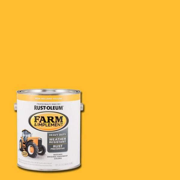 Rust-Oleum 1 gal. Farm and Implement New Holland Yellow ...