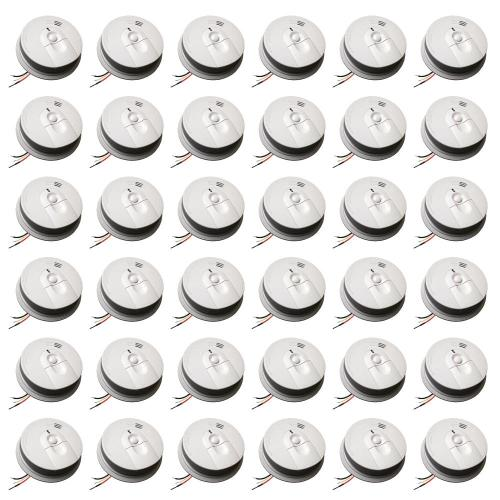 small resolution of hardwire smoke alarm with battery backup and front load battery door 36 pack
