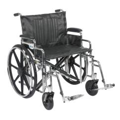 Bariatric Transport Chair 500 Lbs Desk Ratings Drive Sentra Extra Heavy Duty Wheelchair With Detachable Arms And Swing Away Footrest
