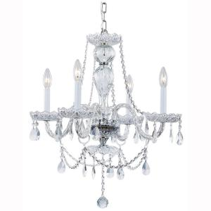 Hampton Bay Lake Point 4-Light Chrome and Clear Crystal