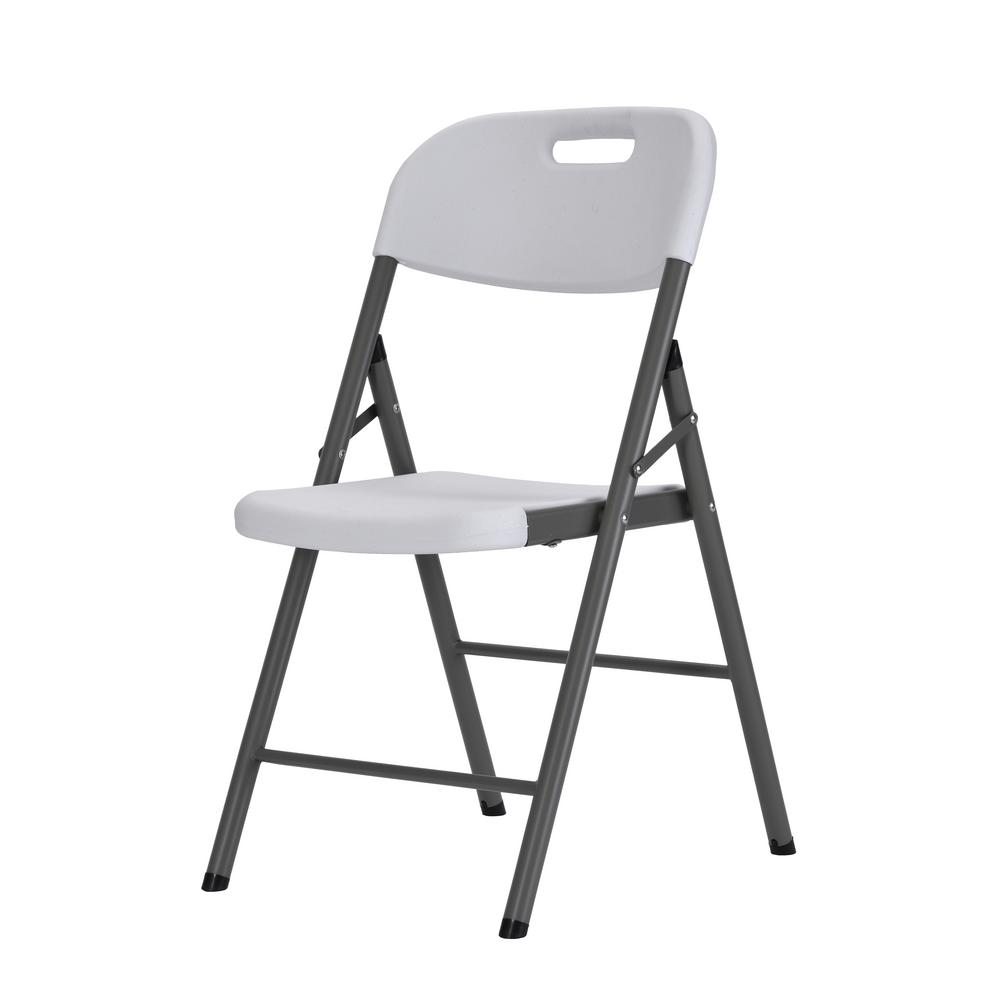 Chair Rack Muscle Rack White Plastic Seat Metal Frame Portable Folding Chair Set Of 4