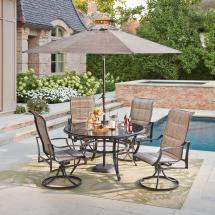 Hampton Bay Statesville Pewter 5-piece Aluminum Outdoor