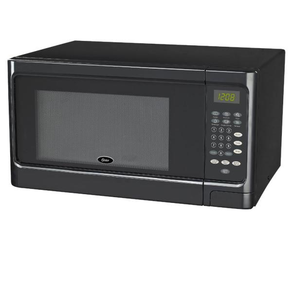 Oster 1.1 Cu. Ft. Countertop Microwave Black 1000-watt With Push Button-ogcms311bk-10 - Home