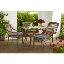 Hampton Bay Spring Haven Brown 5-piece -weather Wicker