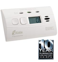 worry free 10 year lithium battery carbon monoxide detector with digital display [ 1000 x 1000 Pixel ]