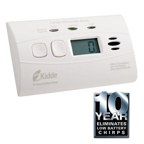 small resolution of worry free 10 year lithium battery carbon monoxide detector with digital display