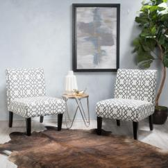 Accent Chairs Gray Pattern Rocky Folding Chair With Side Table Noble House Kassi Geometric Patterned Fabric Set Of 2