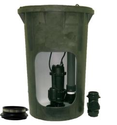 everbilt 1 2 hp submersible pre plumbed sewage basin system [ 1000 x 1000 Pixel ]