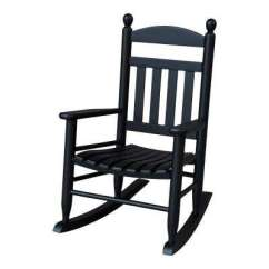 Black Rocking Chair Impact X Rocker Wood Chairs Patio The Home Depot Youth Slat Outdoor