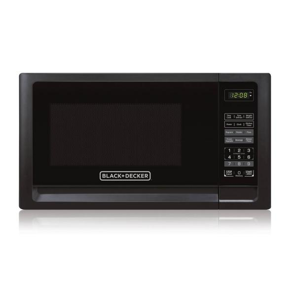 Black Decker 1.1 Cu. Ft. Countertop Digital Microwave In Black-em031mfo-x2 - Home Depot