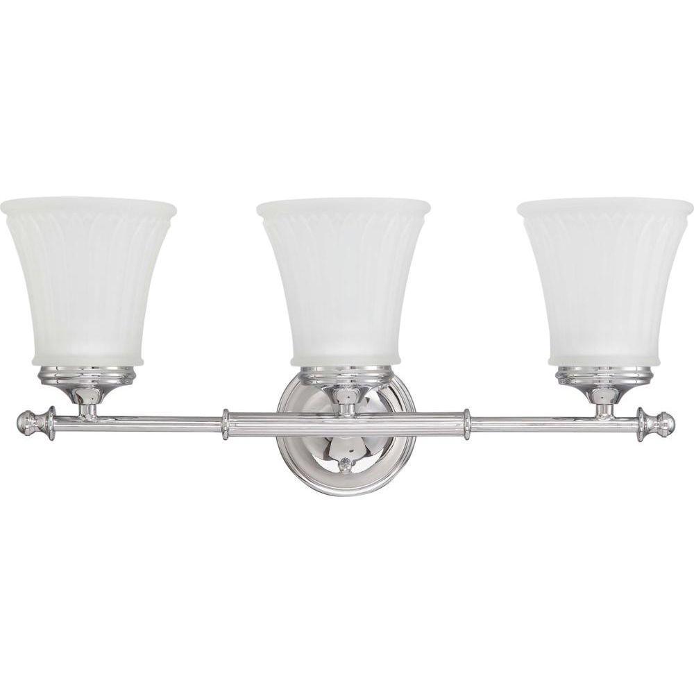 medium resolution of glomar lamberta 3 light polished chrome bath vanity light