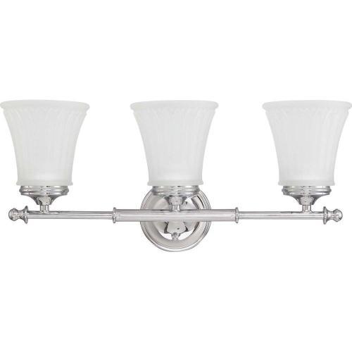 small resolution of glomar lamberta 3 light polished chrome bath vanity light