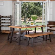 Noble House Simone 3-piece Teak Finish Acacia Wood Dining