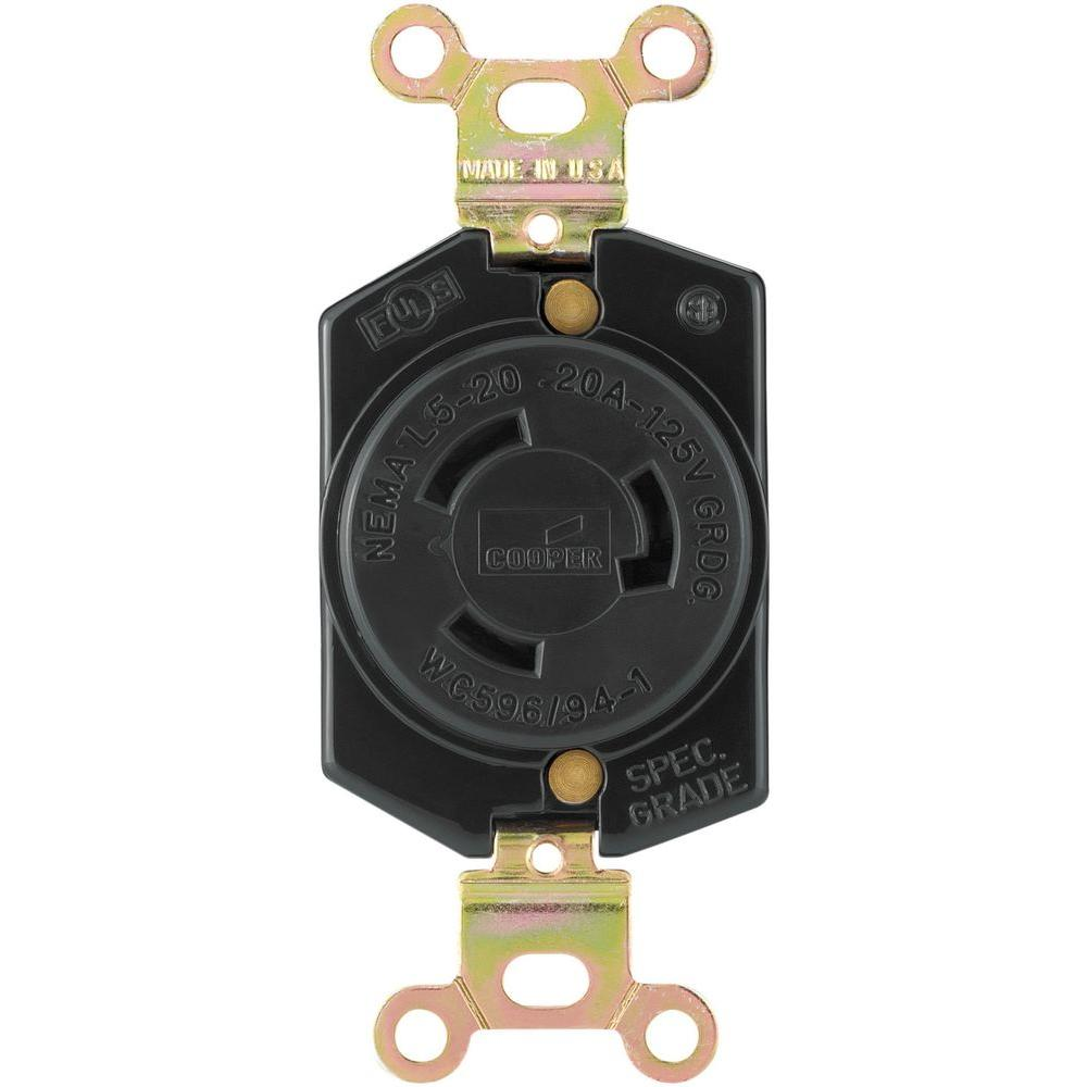 hight resolution of eaton hart lock industrial grade 20 amp 125 volt receptacle with safety grip