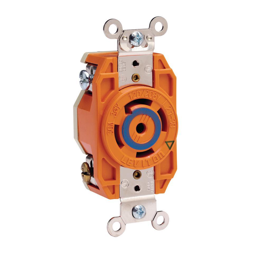 medium resolution of leviton 30 amp 120 208 volt 3 phase flush mounting isolated ground locking