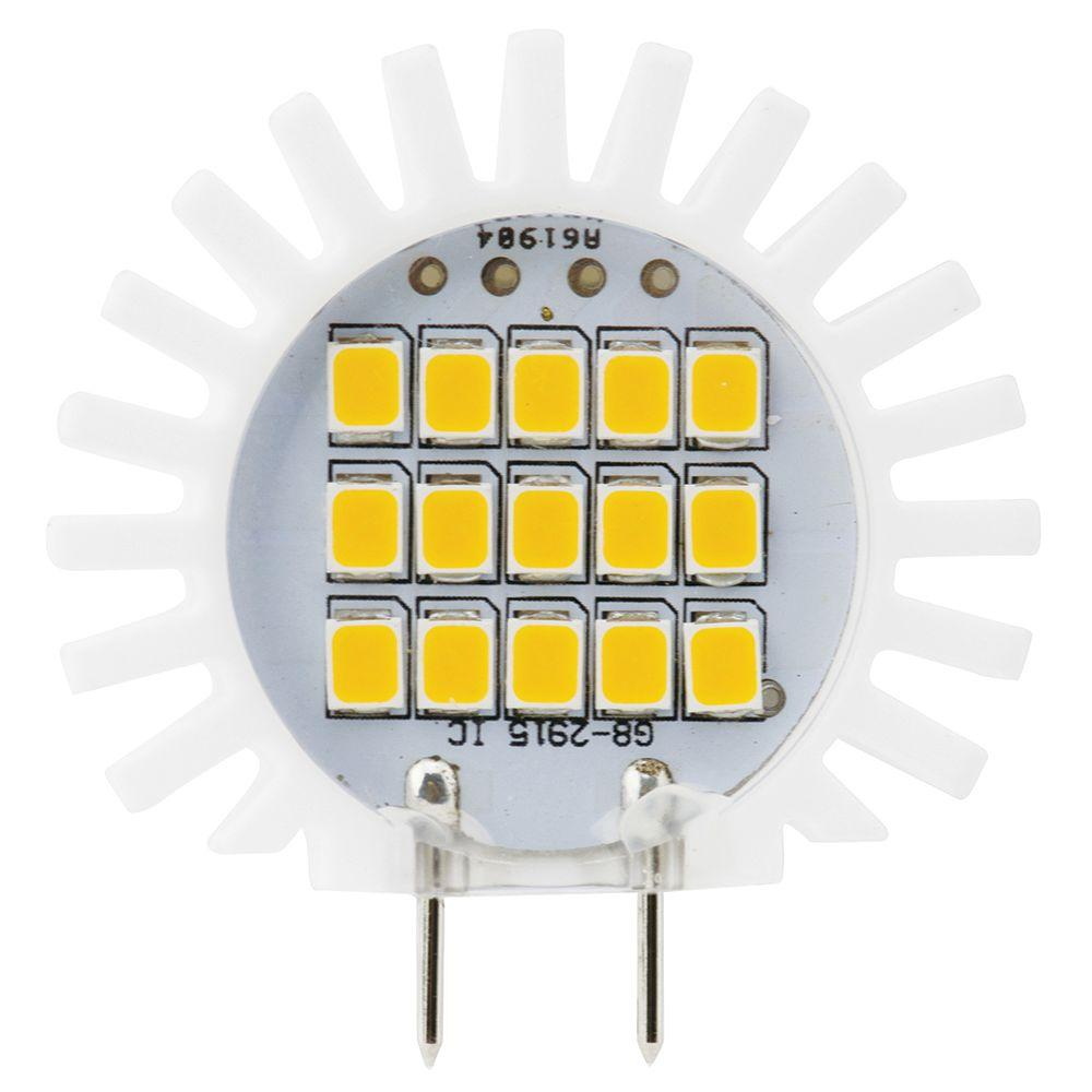 medium resolution of meridian 25w equivalent soft white g8 dimmable led replacement light bulb