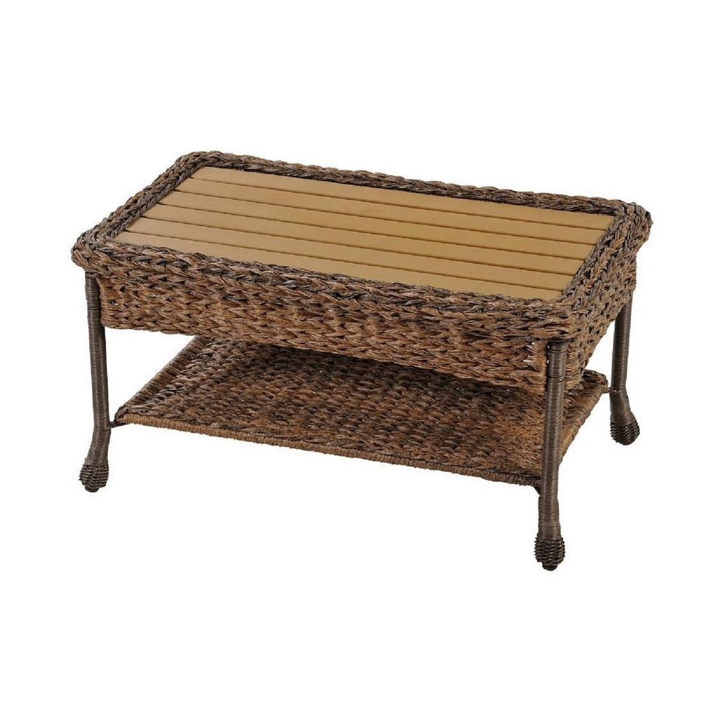 W Unlimited Rustic Brown Aluminum Outdoor Faux Sea Grass