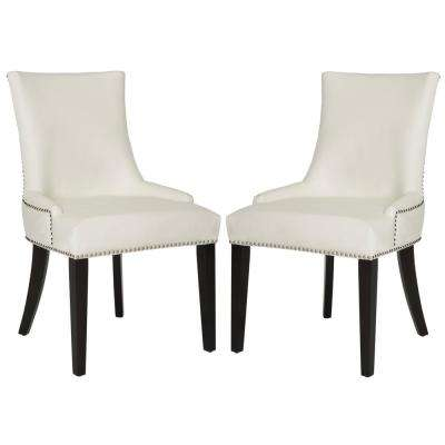 white leather chairs dining chair covers for faux kitchen room lester espresso 19 in h set of 2