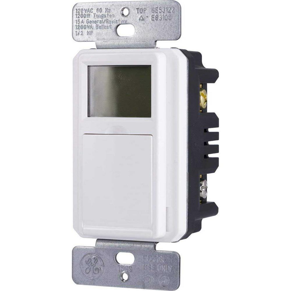 medium resolution of ge 7 day programmable indoor outdoor in wall digital timer 32787 wiring diagram for defiant timer defiant 20amp 7day 7event inwall