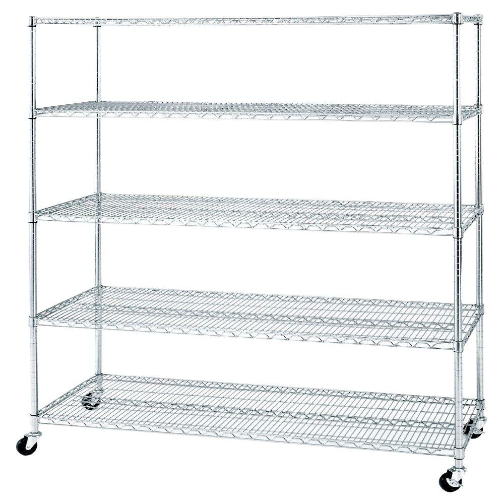 Seville Classics 72 in. x 60 in. x 24 in. 5-Shelf