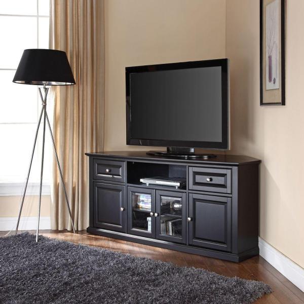 Crosley Black Entertainment Center-cf1000260-bk - Home Depot