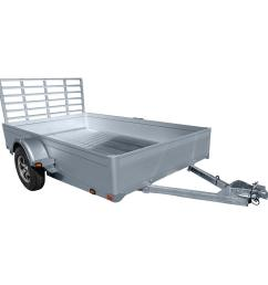 northstar trailers unistar 6 ft x 10 5 ft atv trailer kit with side loading ramps and rear loading gate uni the home depot [ 1000 x 1000 Pixel ]