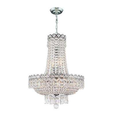 Empire Collection 8 Light Polished Chrome Crystal Chandelier