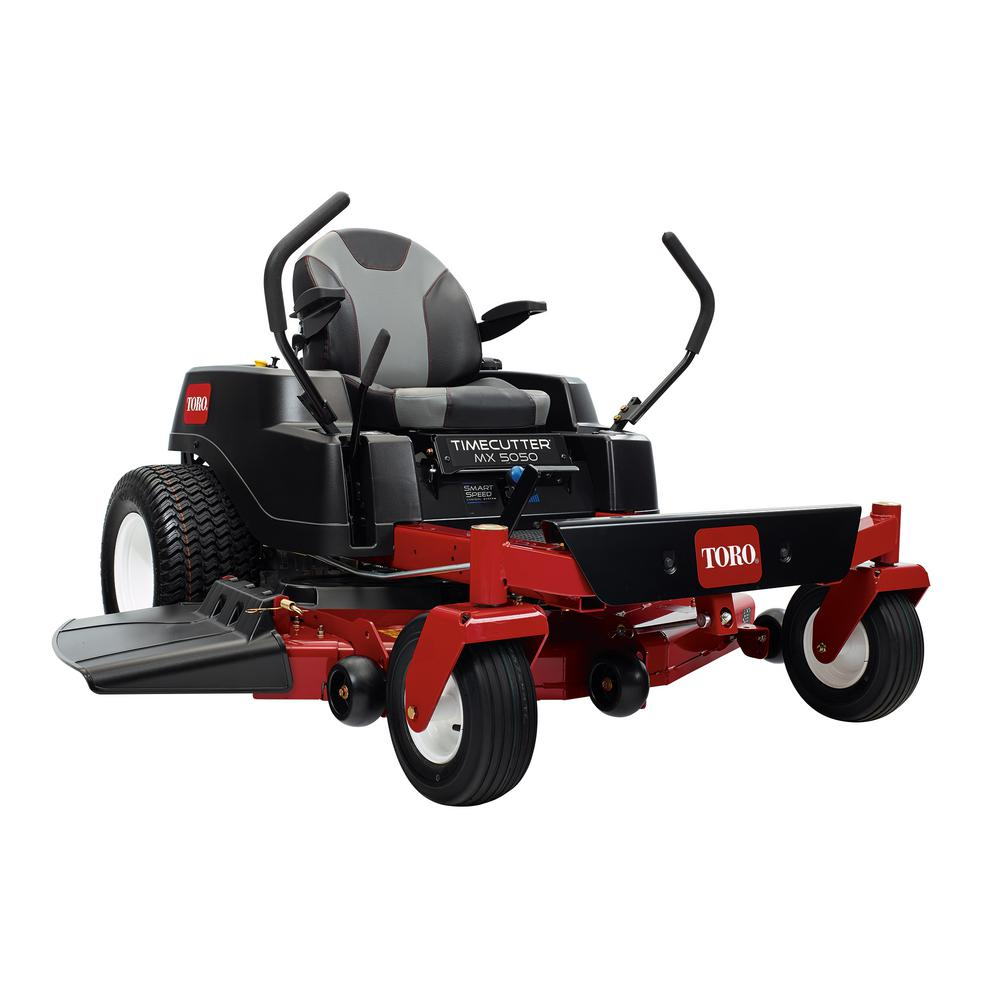 hight resolution of timecutter mx5050 50 in 24 5 hp fabricated deck v twin gas dual hydrostatic riding zero turn mower with smart speed