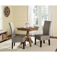 Antique Wicker Chairs Used Power Safavieh Arjun Chair In Grey 2 Pack Sea8013b Set2
