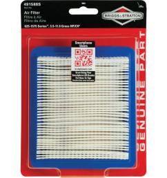 briggs stratton air filter for 3 5 through 6 75 hp quantum engines and 625 1575 series engines 5043k the home depot [ 1000 x 1000 Pixel ]