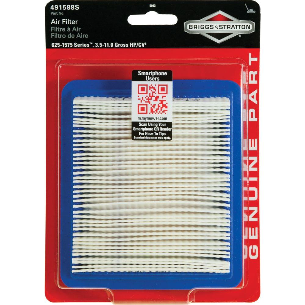 hight resolution of briggs stratton air filter for 3 5 through 6 75 hp quantum engines and 625 1575 series engines 5043k the home depot