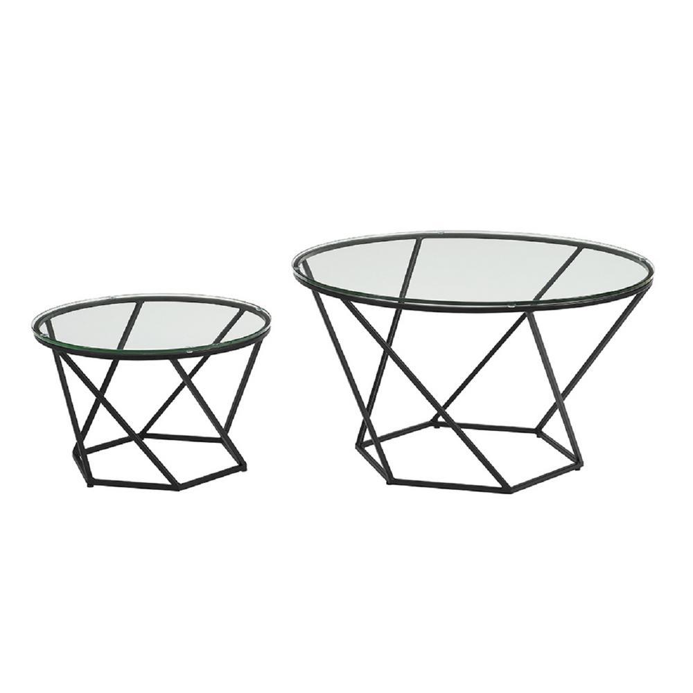 Walker Edison Furniture Company Geometric Glass Nesting