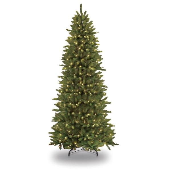 Puleo International 10 Ft. Pre-lit Incandescent Slim Fraser Fir Artificial Christmas Tree With
