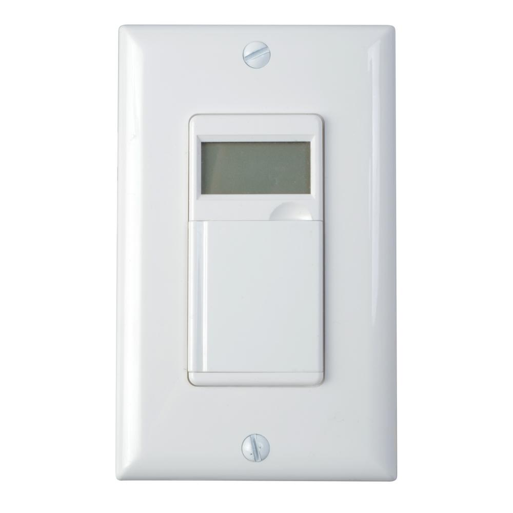 hight resolution of woods 6 4 amp 7 day in wall programmable indoor digital timer switch light switch timer without neutral wire light switch timer no neutral wire