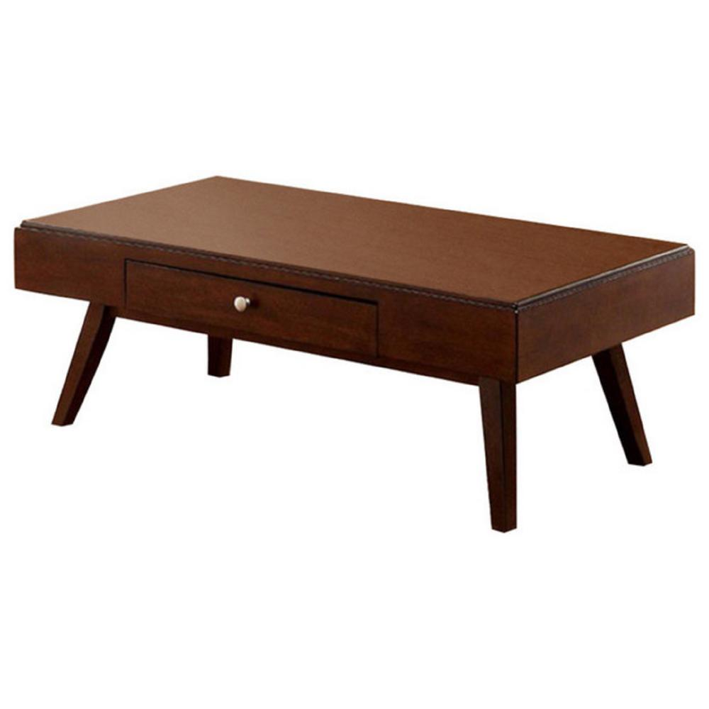 Kinley Brown Cherry Midcentury Modern Coffee Table With