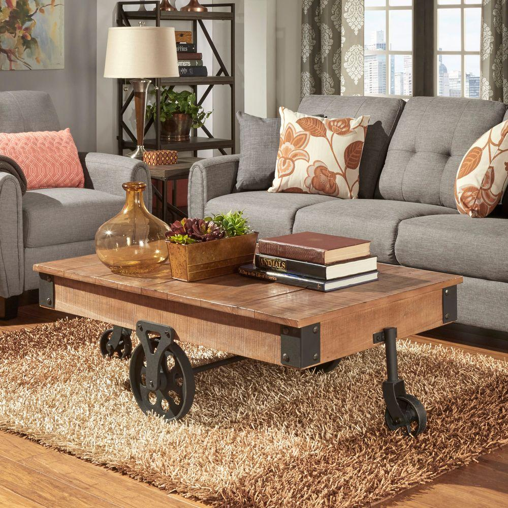 retro living room coffee table how to decorate long with fireplace homesullivan grove place distressed mobile 403228 30